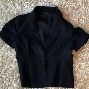 Denim short sleeve blazer